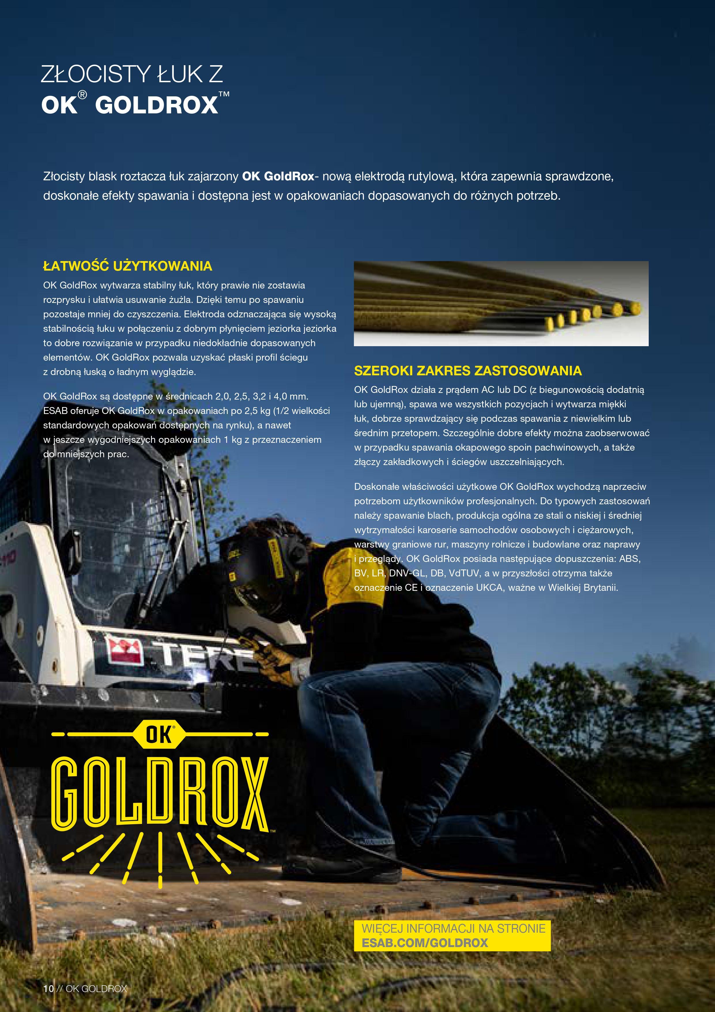ESAB Elektrody OK GoldRox